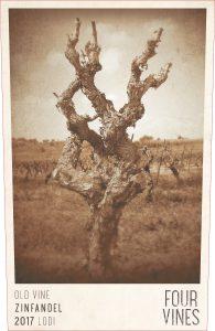 Four Vines Old Vine Zinfandel Label